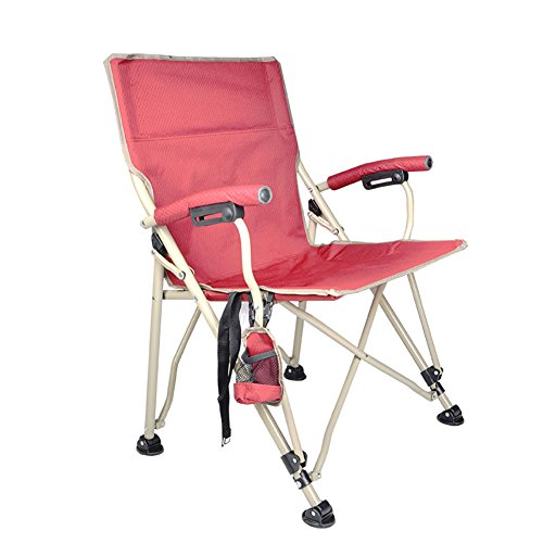 - ZXL Chair Outdoor Camping Festivals Garden Caravan Trips Fishing Beach BBQ Folding Portable Beach Large Chair (Color : Red)