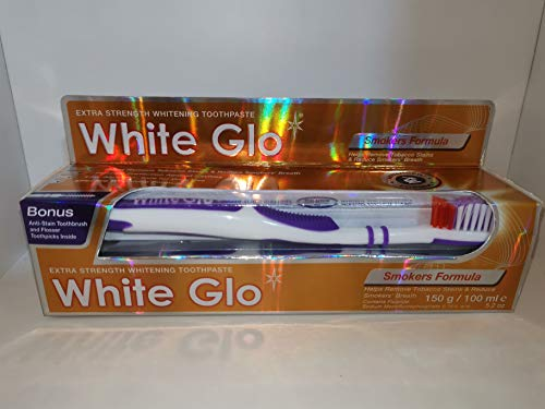 #MC WHITE GLO Smokers Formula 150G-contains Micro polishing Particles to Remove discolouration and Yellowing on Tooth Enamel Caused by Cigarette Smoking and Food and Drinks with Strong Colouring