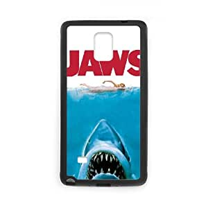 Samsung Galaxy Note 4 Cell Phone Case Black Jaws ECA Sparkle Phone Cases