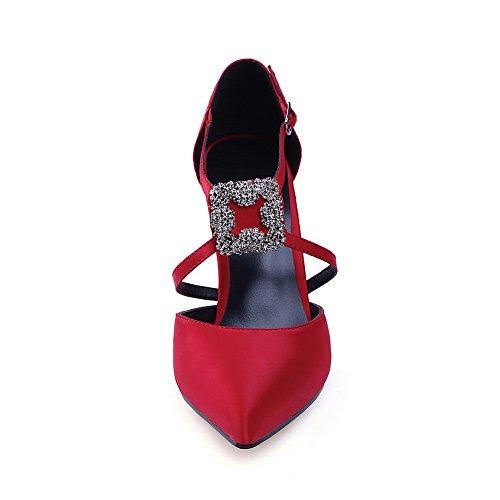 Punainen Kengät resistant kengät Slc03531 Sulkemisen Water Pumput Korkean Pumput No Huarache Vuori Nilkka Kylmä Uretaani Suljetun Kantapää Toe Huomautti wrap Adeesu Naisten qHgq1