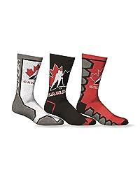 Sporticus Men's Olympic Team Canada 2017 3-Pack Crew Socks
