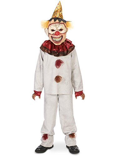 Dream Weavers Costumers Scary The Carnival Clown w Mask Child Costume L -