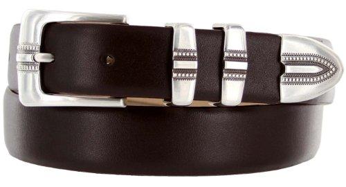 [Kaymen Italian Calfskin Leather Designer Dress Golf Belts for Men 1-1/8