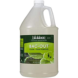 Biokleen Bac-Out Natural Enzyme Stain and Odor Remover - 128 Ounce - Destroys Stains & Odors Safely, for Pet Stains, Laundry, Diapers, Wine, Carpets - Eco-Friendly, Non-Toxic, Plant-Based