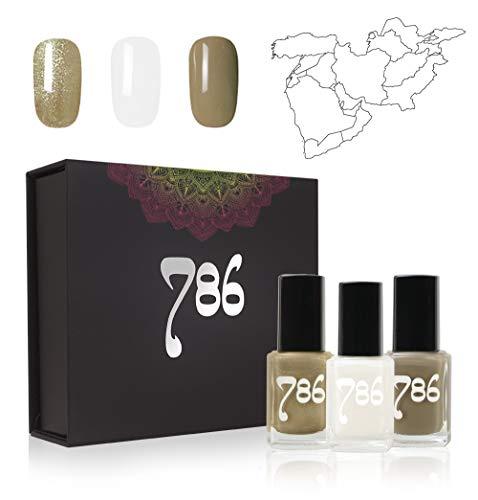 (786 Cosmetics Middle East-Inspired Nail Polish Set - 3 Nail Polishes)