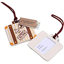"90pcs""Let the Journey Begin"" Vintage Suitcase Luggage Tag Baby Shower Gifts & Wedding Favors"