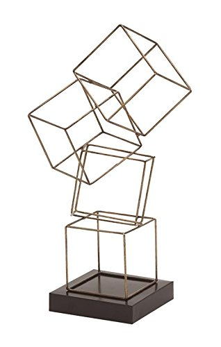 97789 metal square table sculpture