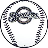 Milwaukee Brewers 12 inch Baseball Style Metal Circle Sign