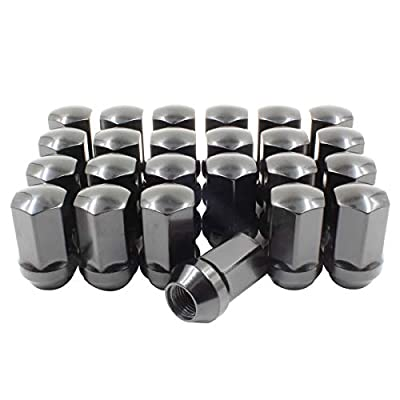 Wheel Accessories Parts Factory Style - Install Kit (Blk) - GM (7/8) M14 1.5 (Long)(6 Lug)(Lugs Only): Automotive