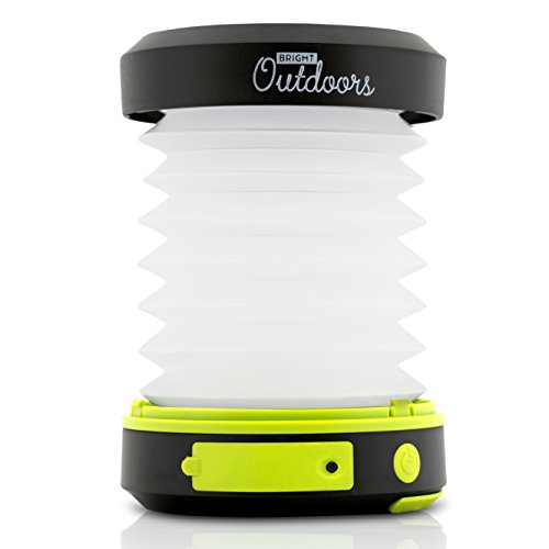 Bright LED, USB Rechargeable and Collapsible Outdoors Solar Lantern with Emergency Powerbank