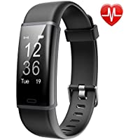 Lintelek Fitness Tracker, Customized Activity Tracker with Heart Rate Monitor, 14 Sports Modes Smart Watch IP67 Waterproof Pedometer for Men, Women and Kids