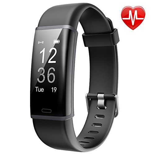 Lintelek Fitness Tracker, Customized Activity Tracker with Heart Rate Monitor, 14 Sports Modes Smart Watch IP67 Waterproof Pedometer for Men, Women and Kids by Lintelek