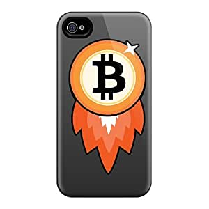 Maria N Young Snap On Hard Case Cover Bitcoin Rocket Protector For Iphone 4/4s