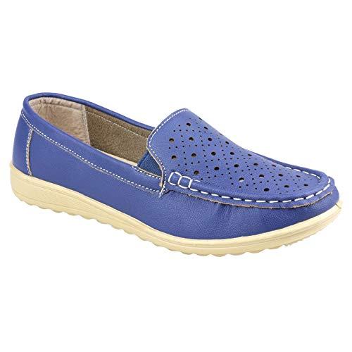 (Amblers Cherwell Ladies Shoe/Womens Shoes (10 US) (Blue) )