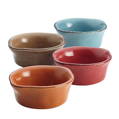 Fashion Rachael Ray Cucina 4 Piece Stoneware Dipping Cup Set Assorted