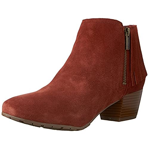 Kenneth Cole REACTION Women's Pil-Ates Ankle Bootie, Rust, 7.5 M US