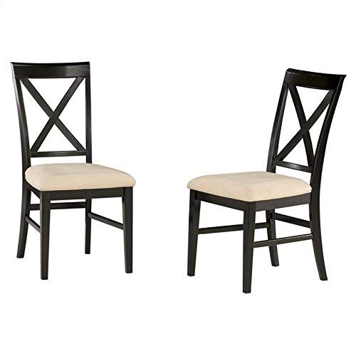 Atlantic Furniture AD772101 Lexington Side Chair in Espresso (Set of 2) - Oatmeal, Beige