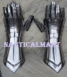 Medieval Knight Steel Armor Gauntlets Gloves By Nauticalmart by NAUTICALMART