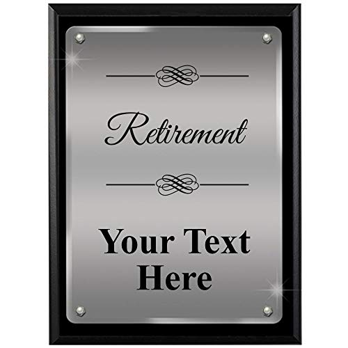 Corporate Employee Recognition Plaques - 9 x 12 Retirement Ascendant Floating Acrylic Recognition Trophy Plaque Award Corporate Employee Recognition Acrylic