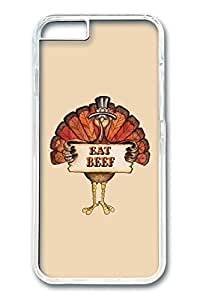 iPhone 6 Plus Case, Protective Slim Hard PC Clear Case Cover for Apple iPhone 6 Plus(5.5 inch)- Eat Beef