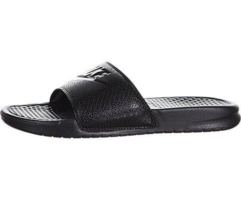 New Nike Men's Benassi JDI Slide Black/Black/Black 12