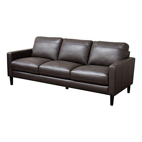 Omega Top Grain Leather Sofa in Dark Chocolate