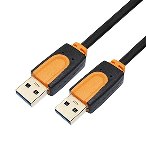 USB3.0 Male to Male Cable, SNANSHI USB 3.0 Type A Male to A Male Cable Cord 1.5M 5Ft (2.0 Usb Transfer File)