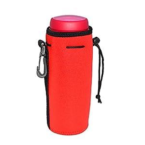 Water Bottle Sleeve, YAMAY® Neoprene Insulated Water Bottle Cooler Bag Insulator Holder Carrier Cover with Drawstring Clip Hook for Backpack