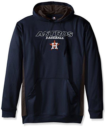 MLB Houston Astros Men's Fleece Hood, 2X Tall, Navy / StormGrey