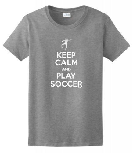 Keep Calm Soccer Ladies T Shirt