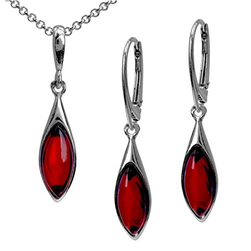 Sterling Silver Red Dark...