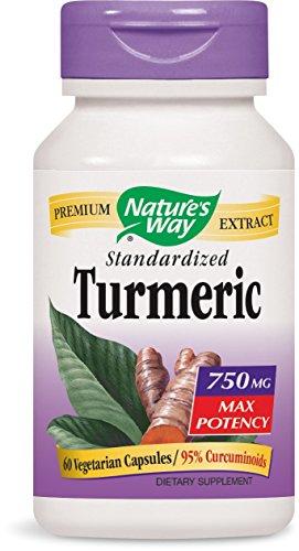 Nature's Way Turmeric Maximum Potency Vegetarian Capsules, 60 Count