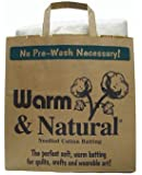 Warm & Natural Cotton Batting Queen Size