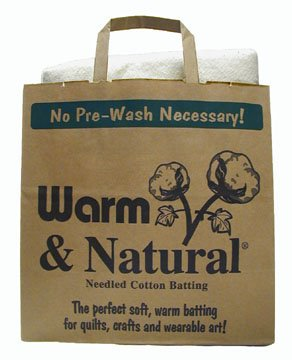 The Warm Company Natural Cotton Batting Queen Size, White CBR-005