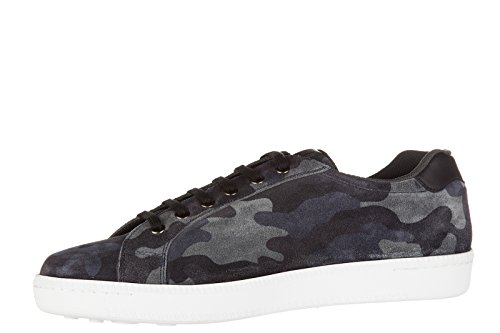 Car Shoe chaussures baskets sneakers homme en daim blu