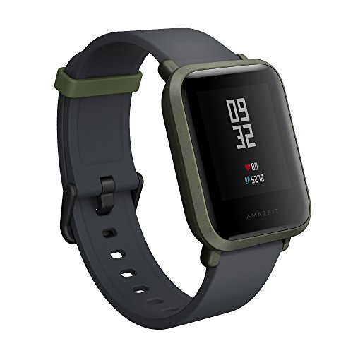 Amazfit Bip Smartwatch by Huami with All-day Heart Rate and Activity Tracking, Sleep Monitoring, GPS, Ultra-Long Battery Life, Bluetooth, US Service and Warranty (A1608 Green)