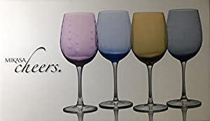 Mikasa Cheers Color White Wine Glasses Set