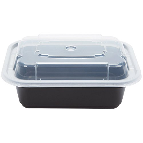 Pactiv NC-818-B Versatainer 12oz Take Out Container & Lid 150/Case