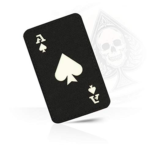 M-Tac Ace of Spades Death Card Tactical Morale Patch Army Combat Hook Fasteners - Patch Card