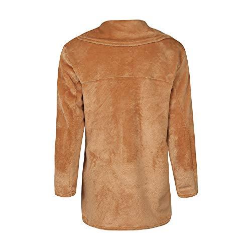 d'hiver pluie Trench en Veste Veste long col coat synthétique à de fourrure Manteau Marron Yvelands chaude femme large w0xFqpFB