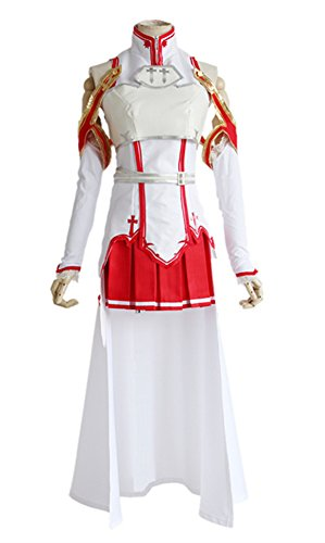 COSKING Asuna Costume for Women, Deluxe Halloween Japanese Anime Cosplay Outfit (XXX-Large)
