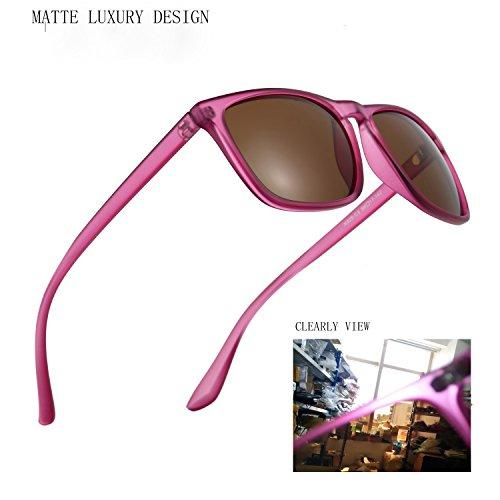 Polarized UV Protection Sunglasses in Bulk for men Plastic Matte Running Pink Design Dark Tint Sun Glasses Nomad Unisex Slip Resistant for Women Beach Walking Driving Traveling Blush Pink Eye - Wear Tints Sunglasses