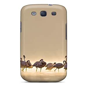 Durable Case For The Galaxy S3- Eco-friendly Retail Packaging(flamingos)