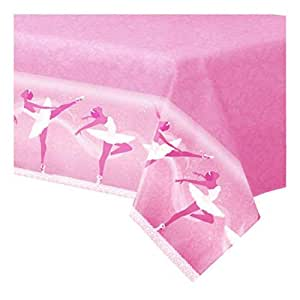 Amscan 47 x 71 inch Ballet Table Cover - 998302, Pink