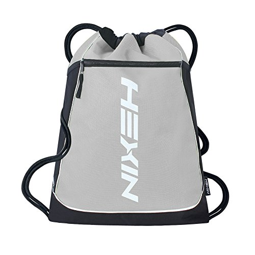 HEXIN Sports Gym Backpack Premium-Quality Sackpack for Team Training Grey (Rack Light Rick)
