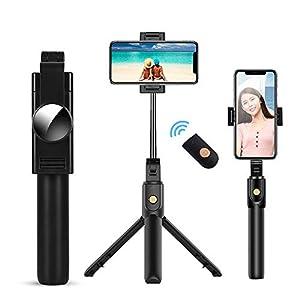 doosl Bastone Selfie Bluetooth, Selfie Stick Monopiede, Mini Estensibile 3 in 1 Selfie Stick Treppiede con Telecomando Wireless per Smartphone 3 spesavip