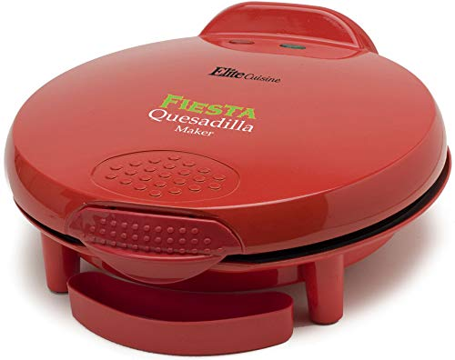 "Elite Cuisine EQD-118 Maxi-Matic 11"" Non-Stick Quesadilla Maker, Red"