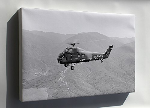 Canvas 24x36; Marine Corps Sikorsky H-34 Uh-34D Seahorse Helicopter Tustin 1964