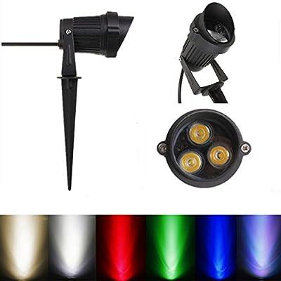 6W LED Flood Spotlightt With Rod & Cap For Garden Yard IP65 AC 85-265V (Color White)