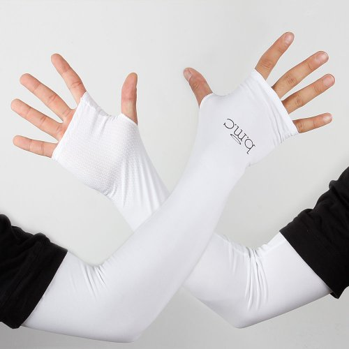 BMC 5pc Multicolor Anti-Slip Thumb Hole Stretch UV Protection Arm Sleeve Set